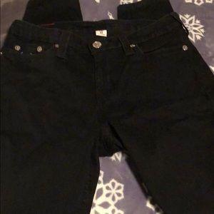 NWOT Black Skinny True Religion Jean.  Size 34.